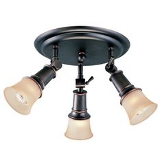 portfolio 3 light oil rubbed bronze flush mount fixed track light kit bronze track lighting