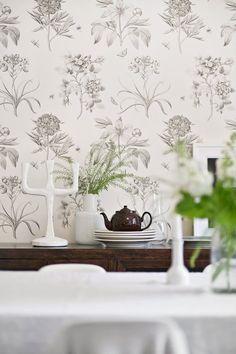 wallpapered walls..