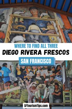 Did you know that San Francisco is home to three historic Diego Rivera frescos? My guide will give you the details on all three and what you need to do in order to visit them. San Francisco Travel, Diego Rivera, Fresco, Murals, Tips, Fun, Fresh, Wall Paintings, Mural Painting