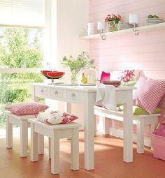 Pink Breakfast Nook