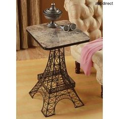 French Side Table Eiffel Tower End Accent Decor Metal Coffee Paris Sculpture Art | eBay