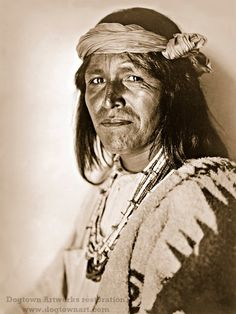 Jemez Pueblo Man is a professionally restored reprint of a vintage photograph taken in the 1920s by photographer Edward Curtis. Jemez Pueblo Man was a member of the Jemez Pueblo in New Mexico. I offer two colors: sepia and black-and-white.  I have lovingly restored the photograph by