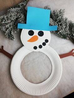 Christmas Crafts For Kids, Xmas Crafts, Paper Crafts, Birthday Room Decorations, Preschool Art, Art For Kids, Snowman, Xmas, Make Believe