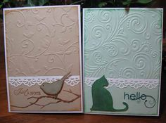 """Love using embossing folders! Keeping it """"simple""""."""