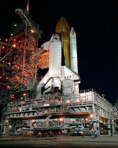 Space Shuttle Columbia arrives at Pad 39B for Launch of Space Shuttle Mission STS-28 1989 [2400  3000]