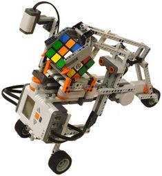 Build a Lego Robot to solve Rubik's Cube Puzzles! STEM Robotics with Lego Mindstorms (Via Tilted Twister) Lego Mindstorms, Lego Nxt, Lego Robot, Stem Projects, Lego Projects, Stem Robotics, Robotics Club, Lego Coding, Lego Engineering