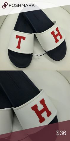 6ad898b6c0c Tommy Hilfiger Men s Splash Logo Slider Sandals Tommy Hilfiger Men s Splash  Logo Slider Sandals Splash sliders