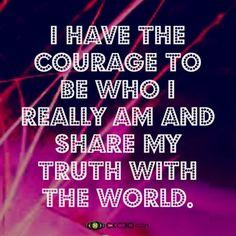 Be who I really am…