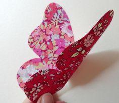Papillon réversible : broche, pince, accessoires divers + toutes formes à décliner (tuto et patron)