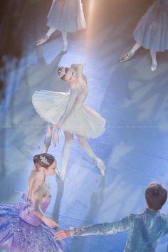 Svetlana Zakharova, Ekaterina Borchenko and Leonid Sarafanov in Mikhailovsky's The Sleeping Beauty    Photos by Nikolai Krusser