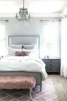 51 Cozy Grey Bedroom Designs With Upholstered/Tufted Headboard T Gray  Bedroom, Home Decor
