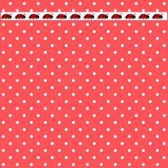 MeinLilaPark – DIY printables and downloads: Free digital polka dot scrapbooking papers with ladybug border – ausdruckbares Geschenkpapier – freebie