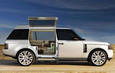 This stretch out custom Range Rover was created by the UK design consultancy Design Q. You'll need a second car for the luggage!