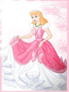 Cinderella Torn Pink Dress | love pink dress by rebenke