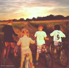 'Kids out on bikes' - reminiscent of The Goonies!