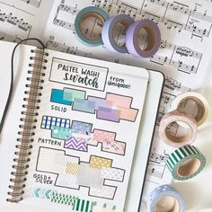 Are you a washi tape collector? Here are 20 different creative washi tape swatch layouts for you to use in your bullet journal! Bullet Journal Washi Tape, Bullet Journal Key, Bullet Journal Layout, Bullet Journal Ideas Pages, Bullet Journal Inspiration, Bullet Journals, Junk Journal, Bujo Inspiration, Washi Tape Storage
