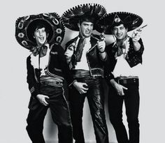 """""""Los tres amigos"""" Laerton, Angel Villa, e Glauquito"""