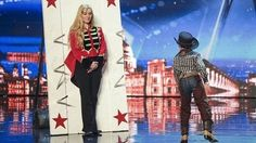 Child circus performer Edward Pinder leave the Judges on the edge of their seats as he chucks knives at his mum.