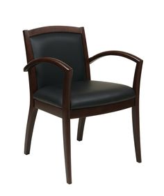 OSP Furniture® Napa Espresso Guest Chair With Full Cushion Back (1-Pack). Magnify your corporate style with this casual feel Napa guest chair. Sturdy metal and solid wood reinforced framing combines intelligent fabrication with a classic look and feel that will blend seamlessly into your existing office decor. With the back and seat comprised of soft & durable Bonded Leather, you and your guests will enjoy the comfort and relaxation of this classy and professional seating solution. This Napa…