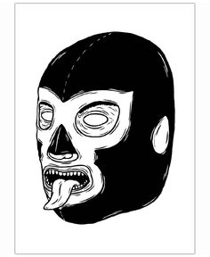 Black Luchador Art Print by David Penela - X-Small Tatoo Skate, Luchador Mask, Wrestling Posters, Arte Hip Hop, Mask Drawing, Lowrider Art, Mask Painting, Arte Horror, Mexican Art
