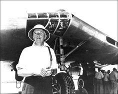 Jack Northrop w/ YB-49 Flying Wing