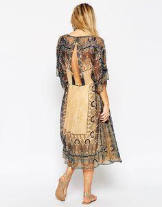 Bild 2 von ASOS – Glam – Festival Boho-Kleid mit Perlenbesatz