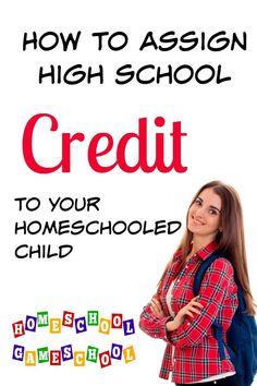 Assigning High School Credit for Homeschooled Teens How to assign high school credit to a homeschool High School Transcript, High School Curriculum, Homeschool Apps, High School Credits, High School Years, School Schedule, School Resources, Home Schooling, High School Students