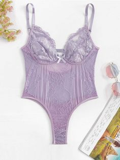 To find out about the Bow Detail Lace Teddy Bodysuit at SHEIN, part of our latest Sexy Lingerie ready to shop online today! Lingerie Shop, Cute Lingerie, Satin Lingerie, Lingerie Outfits, Teddy Lingerie, Bodysuit Lingerie, Lace Bodysuit, Women Lingerie, Bridal Lingerie