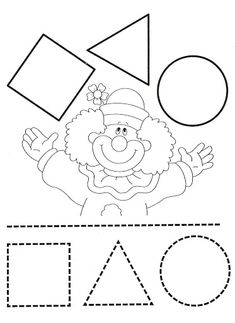 FIGURAS GEOMETRICAS - Paulita 2 - Picasa Webalbumok Preschool Circus, Circus Activities, Circus Crafts, Learning Activities, Preschool Activities, Shapes Worksheets, Kindergarten Worksheets, Kids Class, Kids Education