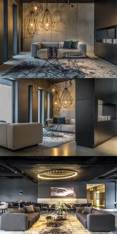 Magu Design has completed the design for the first phase of Nordsjø Kontorpark, an office development located in Haugesund, Norway. Nordsjø Kontorpark is Apartment Design, Modern Interior, Lounge, Mansions, Architecture, House Styles, Offices, Waiting, Home Decor