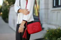 gucci soho leather disco bag something I really love about this red bag!