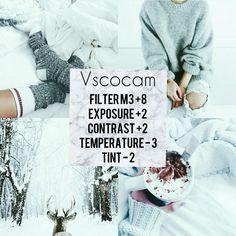 Vscocam, filter for winter ⛄ a pure white ❄