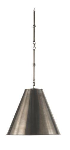 Visual Comfort Thomas OBrien Goodman 1 Light Hanging Shade in Antique Nickel TOB5090AN-AN
