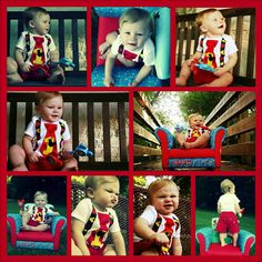 1st birthday photo shoot, mickey mouse outfit and chair