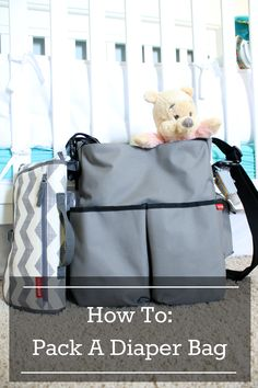 How to pack a diaper bag with room to spare! For new mommies, mommies that need a refresher and new babies that need a diaper bag. :)
