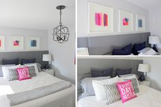 I love the colors in this master bedroom makeover from Home Coming!