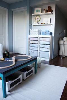 IHeart Organizing: Basement Progress: A Painted Playroom Rug!