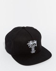 861a4eac452 Stussy World Tour Canvas Snapback Cap at asos.com