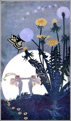 """Dugald Stewart Walker (c 1920) from the book DREAM BOATS AND OTHER STORIES - """"Fairies cousin."""""""