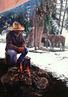 Cowboys, cowgirls, horses and anything else I like. Native American Art, American History, American Women, American Indians, Cowboy Artwork, Cowboy Pictures, Cowboy Pics, Western Photo, Hunting Art