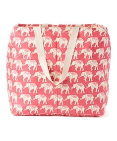 Love this Elephant Pink Laundry Tote on #zulily! #zulilyfinds
