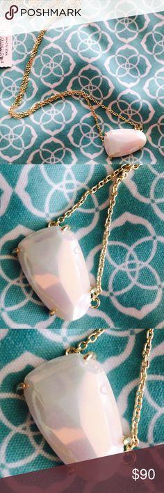 NWT Kendra Scott White Iridescent Isla Gorgeous White iridescent Isla. NWT and set in gold Kendra Scott Jewelry Necklaces