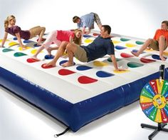 The Inflatable Outdoor Twister Game - Hammacher Schlemmer