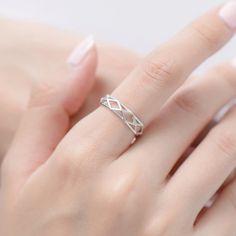 Geométricas/platino anillo plateado/3D impreso por FABRICA9 en Etsy