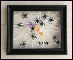 """I think I will do a set of these frames with different """"victims"""" in the center. This was super easy! Check out tutorial. Halloween Yard Decorations, Halloween Treats, Halloween Diy, Super Easy, Frames, Holidays, Check, Outdoor, Vacations"""