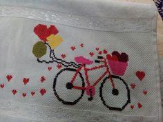 Cross Stitch Designs, Cross Stitch Patterns, Windmill, Bicycle, Baby Washcloth, Hand Embroidery Patterns, Cross Stitch Baby, Crochet Designs, Hand Embroidery Stitches