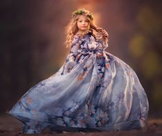 "ALALOSHA: VOGUE ENFANTS: Must Have of the Day: Absolutely smitten ""Frosted"" Silk Gown by Anna Triant Couture"
