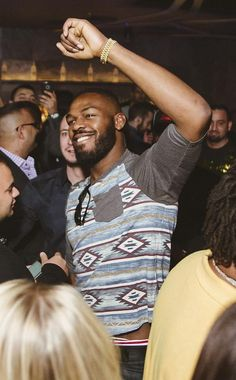 UFC Fighter Jon Jones Celebrates Victory at Hakkasan Nightclub on Jan 3, 2015 (Photo credit: Aaron Garcia of Hakkasan Group).