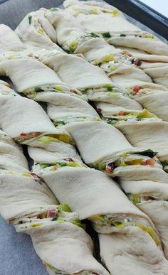 Vlaška pita by none Albanian Recipes, Croatian Recipes, Bread Recipes, Baking Recipes, Healthy Recipes, Breakfast For Dinner, Breakfast Recipes, Kiflice Recipe, Macedonian Food