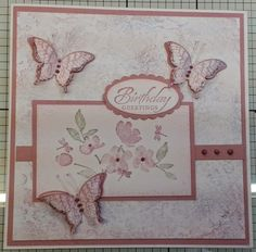 This is the first make & Take card at the Prop House Cafe in Pinewood Nurseries (just across the road from Wexham park Hospital) Using my new stamp set from Stampin Up.